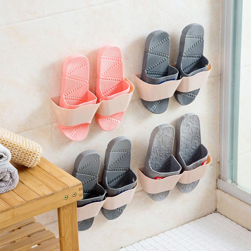 Настенный стиль трехмерный обувная полка ванная комната экономического типа шлепанцы полка домой гостиная легко палка стиль обувь хранение полка
