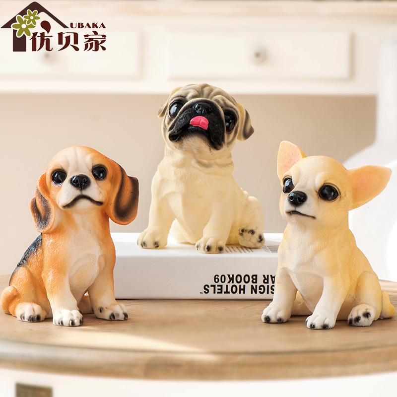家居礼物仿真狗摆件名犬装饰小狗饰品小摆设书房树脂创意工艺品