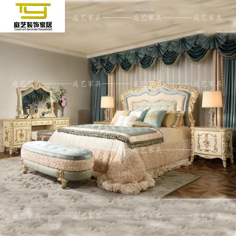 新款全实木婚床公主床法式v公主床新古典双人床欧式奢华床家具