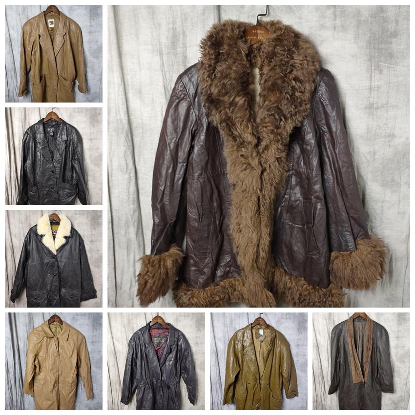 古着复古vintage西装真皮皮衣风衣夹克外套9