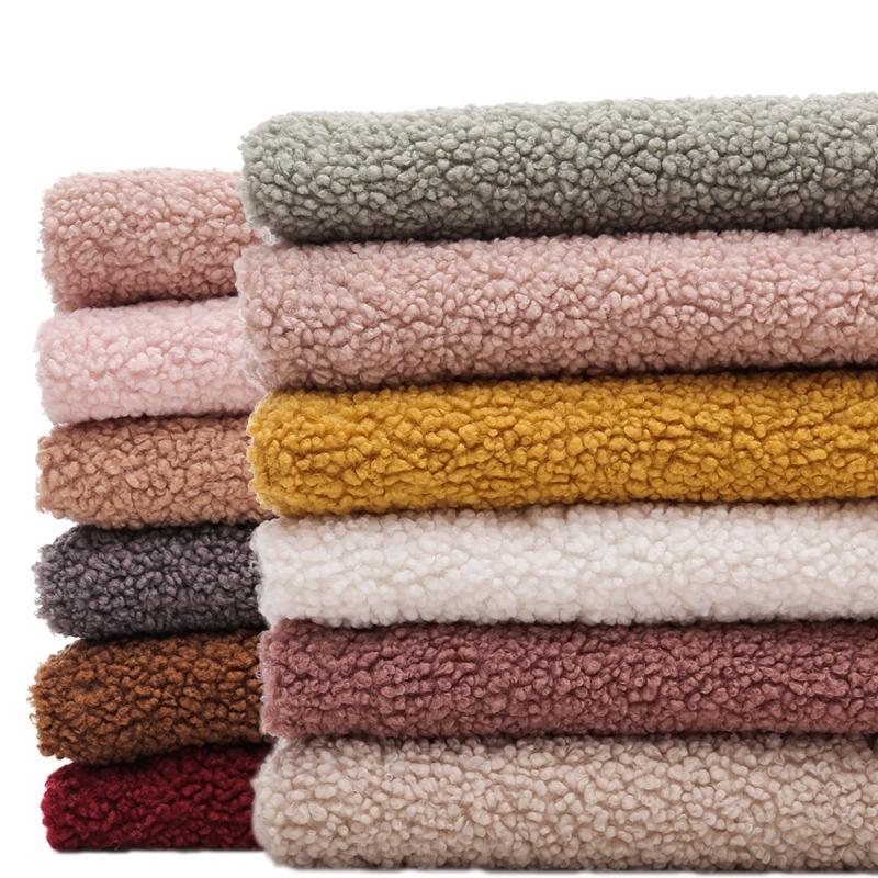 Altai vải nhung dày hạt nhung lớn vòng tròn nhung cừu vòng tròn len cừu len nhung quần áo vải thủ công - Vải vải tự làm