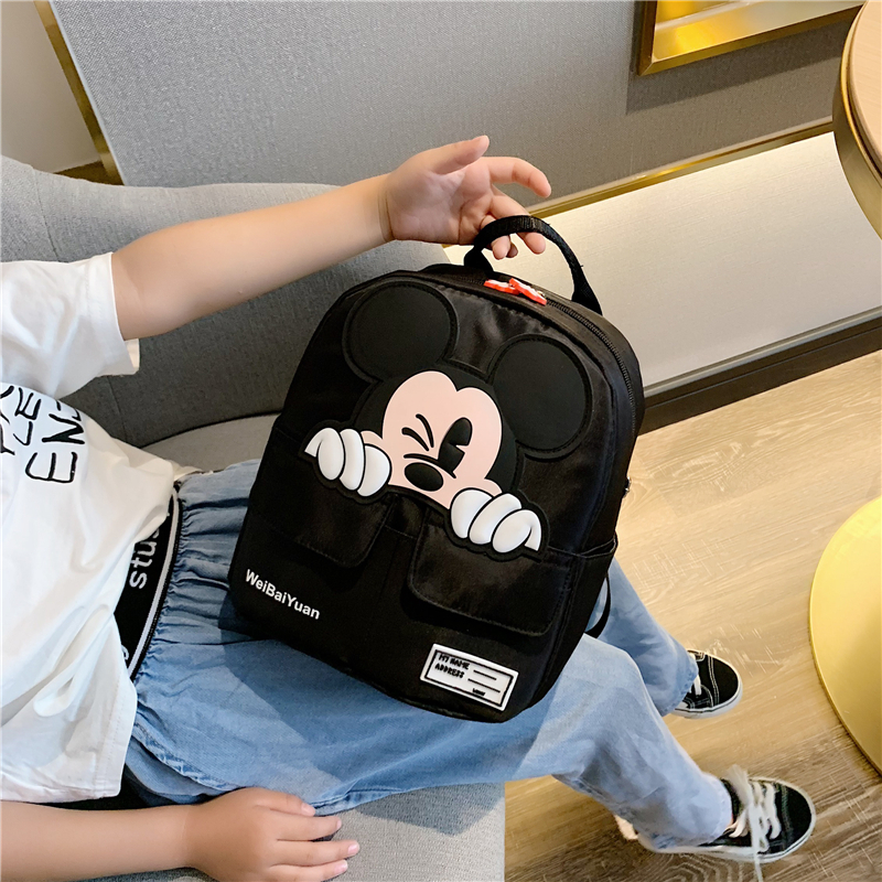 Cartoon Mickey cute student school bag children's backpack 2019 New Girl large capacity leisure backpack female bag