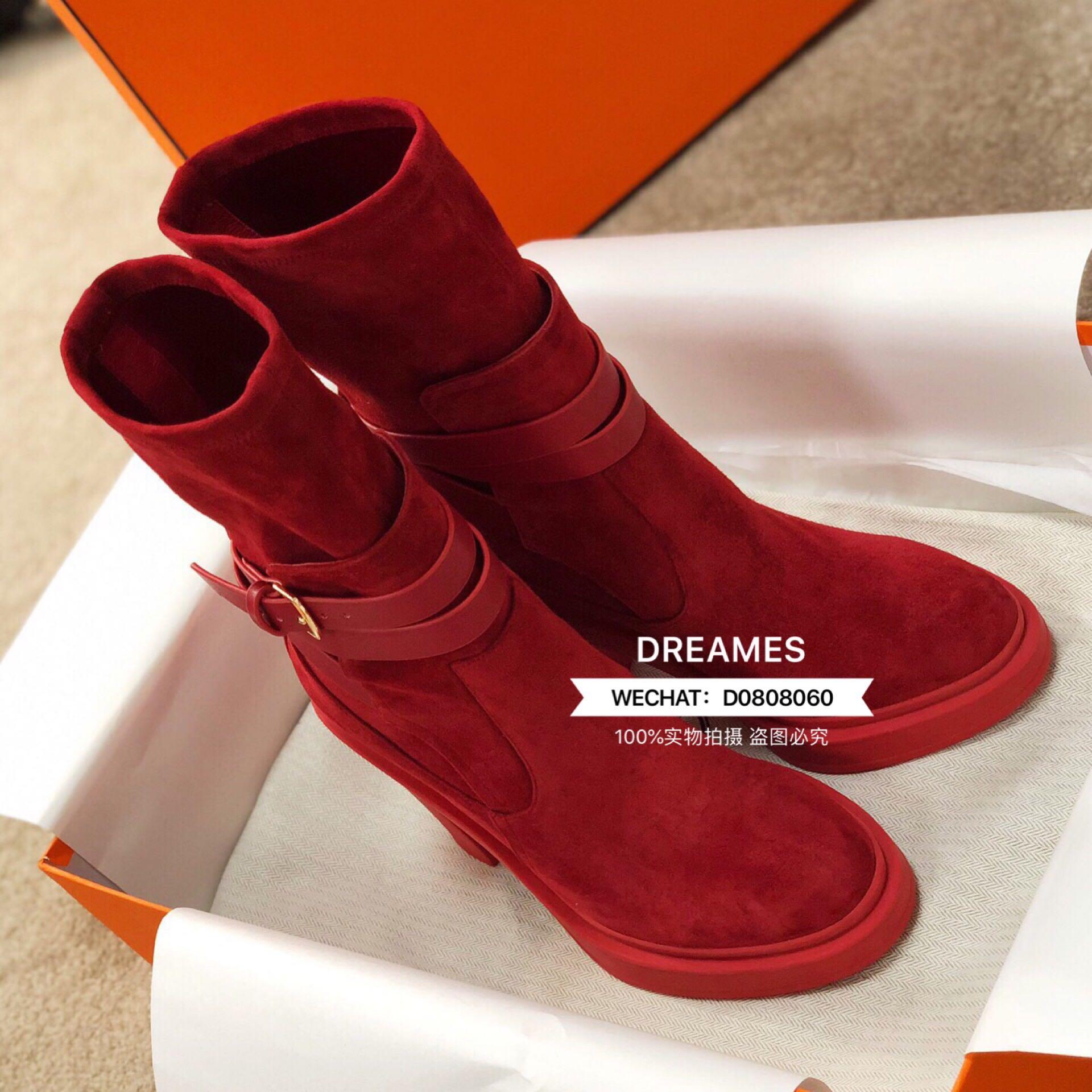 2019 новинка зимний осеннний матовая кожа толстая на высоком кабгалстук-бабочкае ботинки женщина локомотив ботинок пряжка круглый европейские станции красный ботинок 608716606960