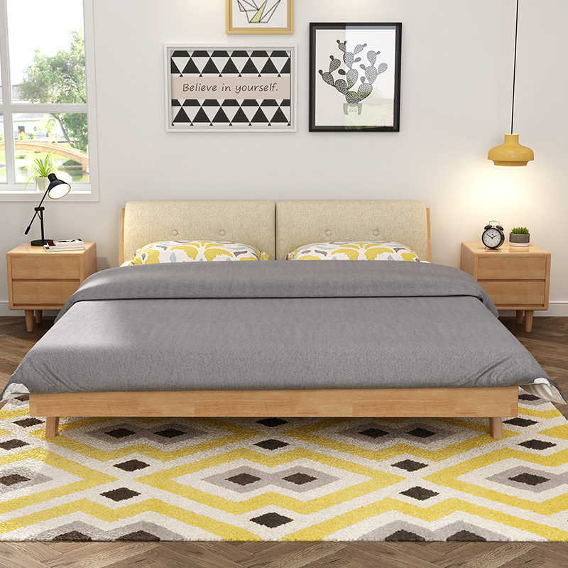 Кровать из массива дерева Yaqiong  1.5m1.8