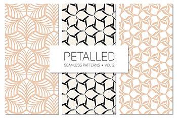 无缝背景花瓣纹理素材 Petalled Seamless Patterns Set 2