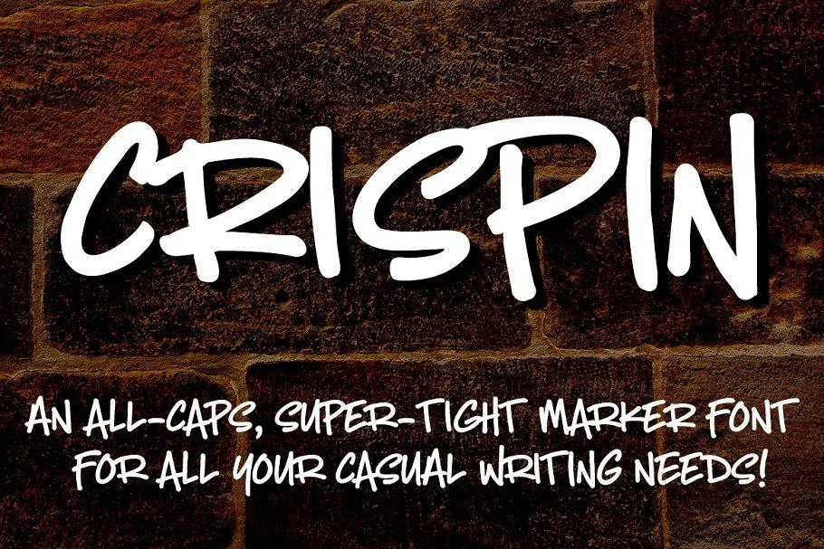 特别的手绘手工字体 Crispin: handwritten marker font设计素材模板