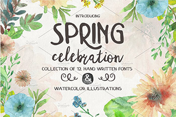 春季喜庆字体包 Spring Celebration Font Collection