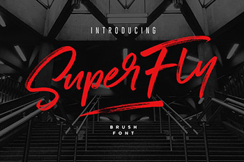狂草手绘英文字体 SuperFly Brush Font