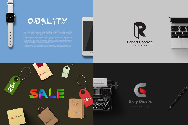 高品质的时尚非常适合用来设计logo标志的RibOne字体设计素材模板
