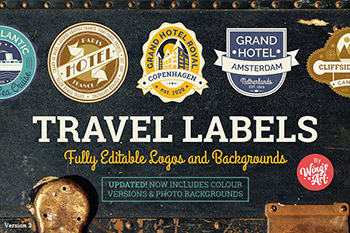 经典样式的旅行图形logo Vintage Travel Logo Templates