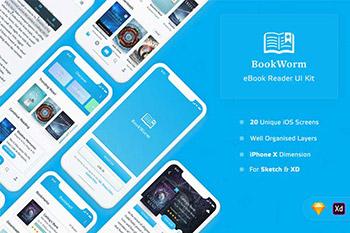 完美的手机应用电子书阅读购买功能的 APP UI KITS下载[SketchXD]