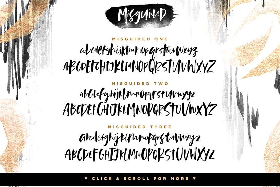 粗犷随意的字体笔刷 Misguided Brush Font设计素材模板