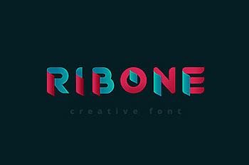 高品质的时尚非常适合用来设计logo标志的RibOne字体