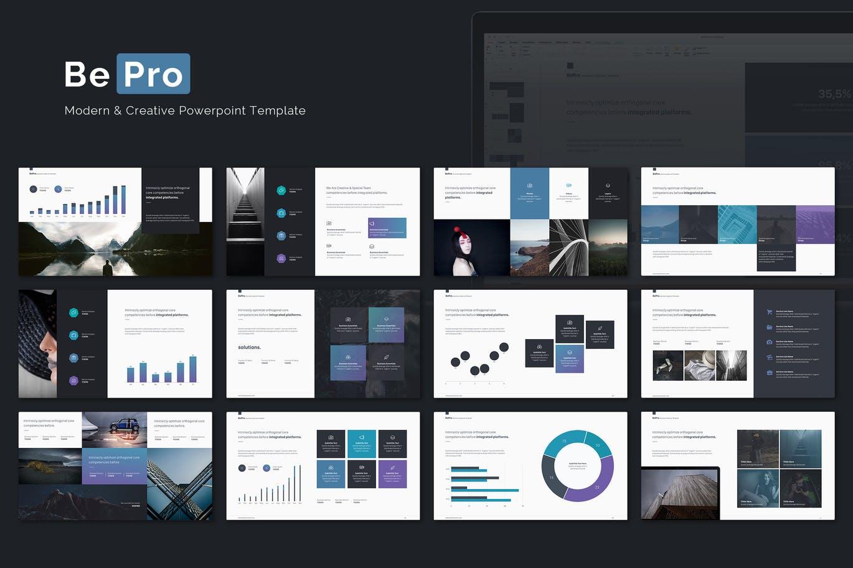 高品质的高端商务商业质感的powerpoint幻灯片演示模版(pptx)设计素材模板