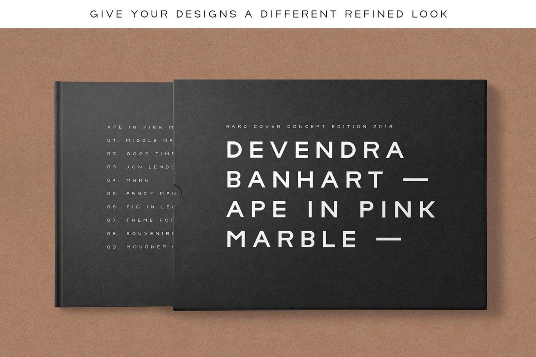 理性主义和极简主义启发的现代时尚英文字体设计素材模板
