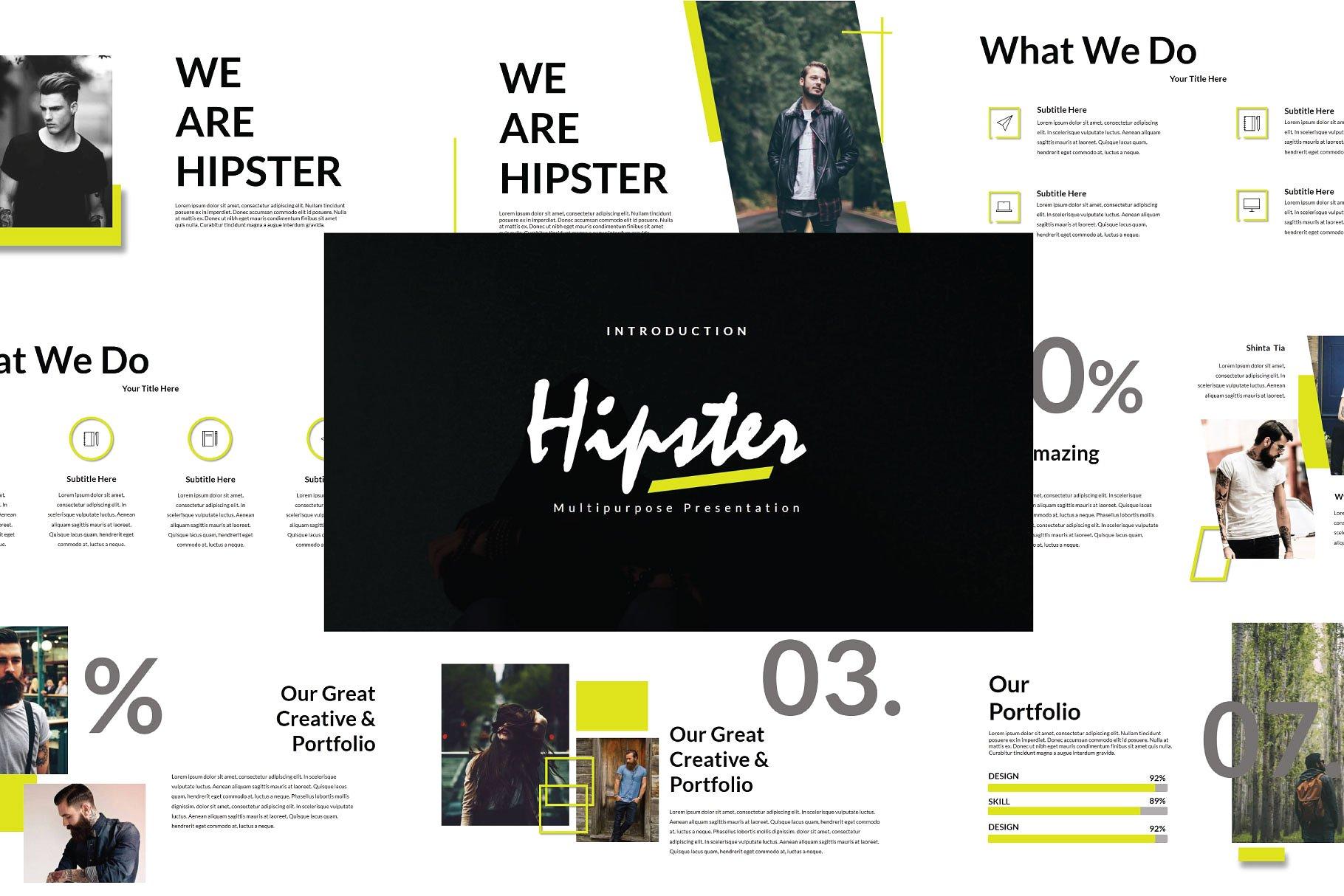 设计精美时髦优秀排版幻灯片演示模板[keynote]设计素材模板