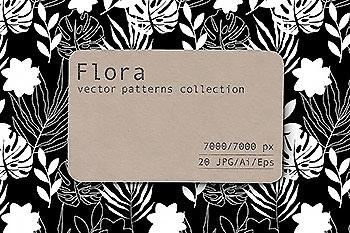 轻奢风格的女性花卉背景文艺矢量素材下载[Ai]