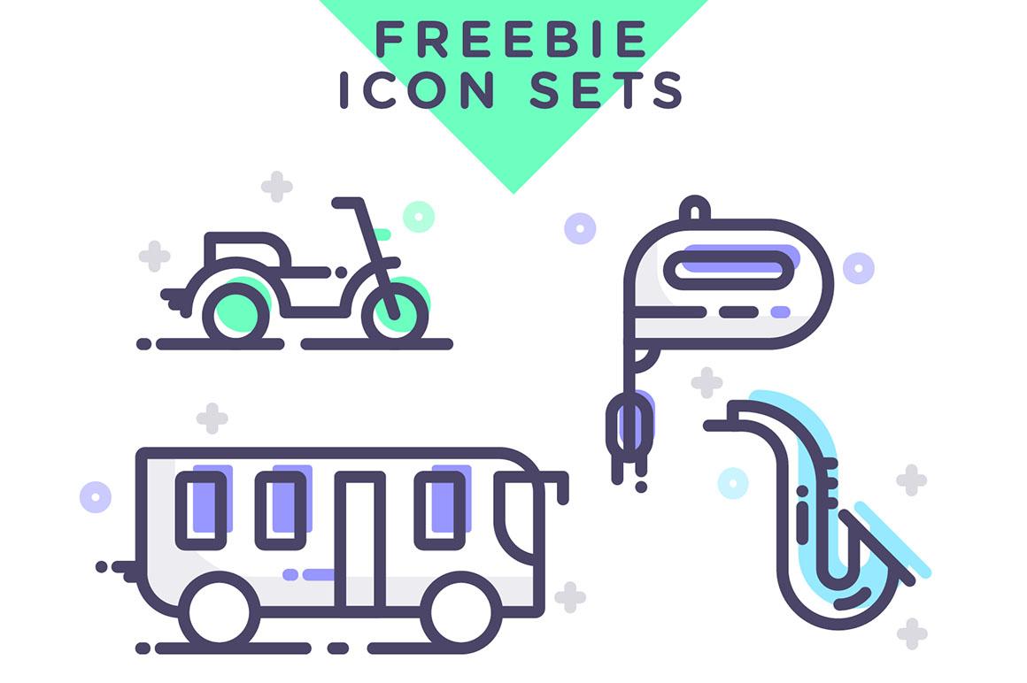 多个主题特色UI图标合集 Free Assorted Vector Icons设计素材模板