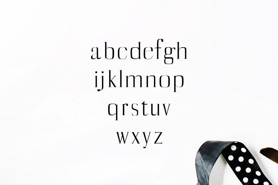 漂亮时尚的英文字体包 Catheryn Serif 4 Font Family Pack设计素材模板