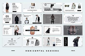 时尚高端杂志风格的社交sns广告banner模版下载[PSD]
