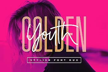 金色年华两款英文字体的巧妙结合 Golden Youth Font Duo