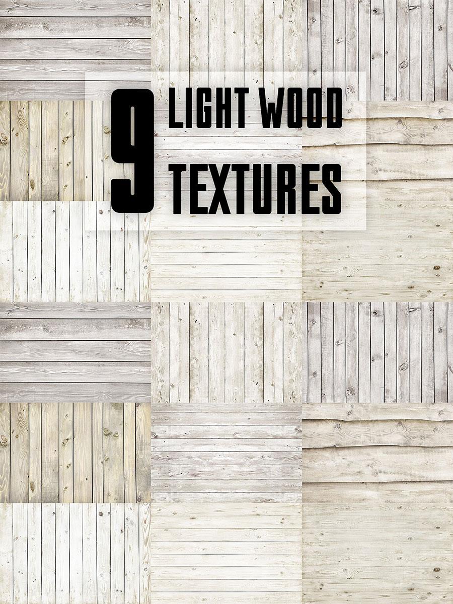 9种淡雅木纹木质背景纹理图下载[高清图]设计素材模板