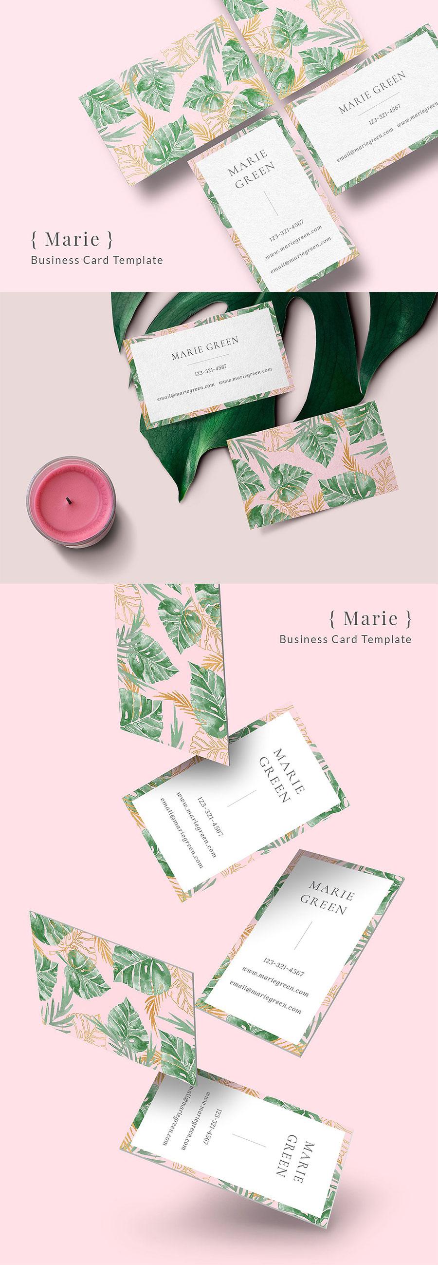 女性品牌相关的名片模版免费下载[PSD]设计素材模板