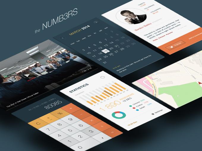 UI | 日期时间图标手机端用户界面PSD设计素材模板