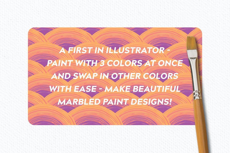时尚高端专业的高品质手绘水彩油画质感笔刷大集合(illustrator)设计素材模板