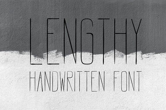 个性字体LENGTHY   All Caps Brush Font设计素材模板