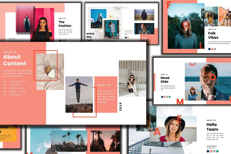 PPT | 色彩绚丽时尚优雅专业精美创意演示设计幻灯片设计素材模板
