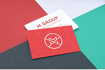 商业卡片样机 Close-up Business Cards Mockup v.1