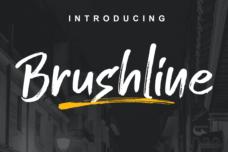 手工绘制英文笔刷字体 Brushline Font设计素材模板