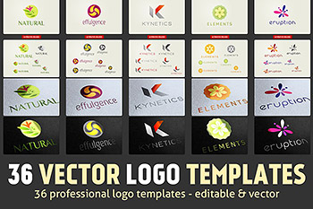 36个矢量Logo模板 36 Vector Logo Templates