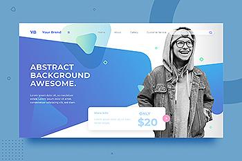 简约抽象风格网站设计背景素材v2.3 SRTP Abstract Background.v2.3
