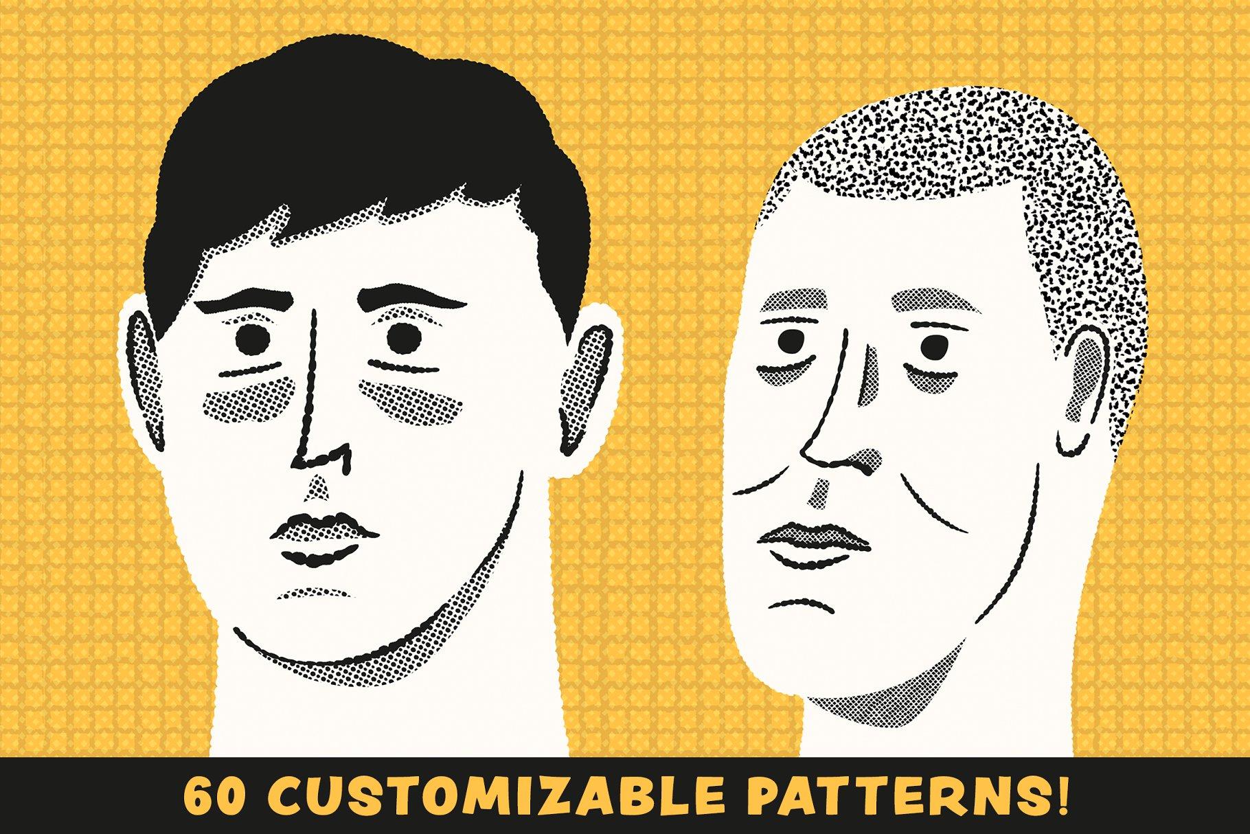 卡通笔刷图案 Patts Brush Collection设计素材模板