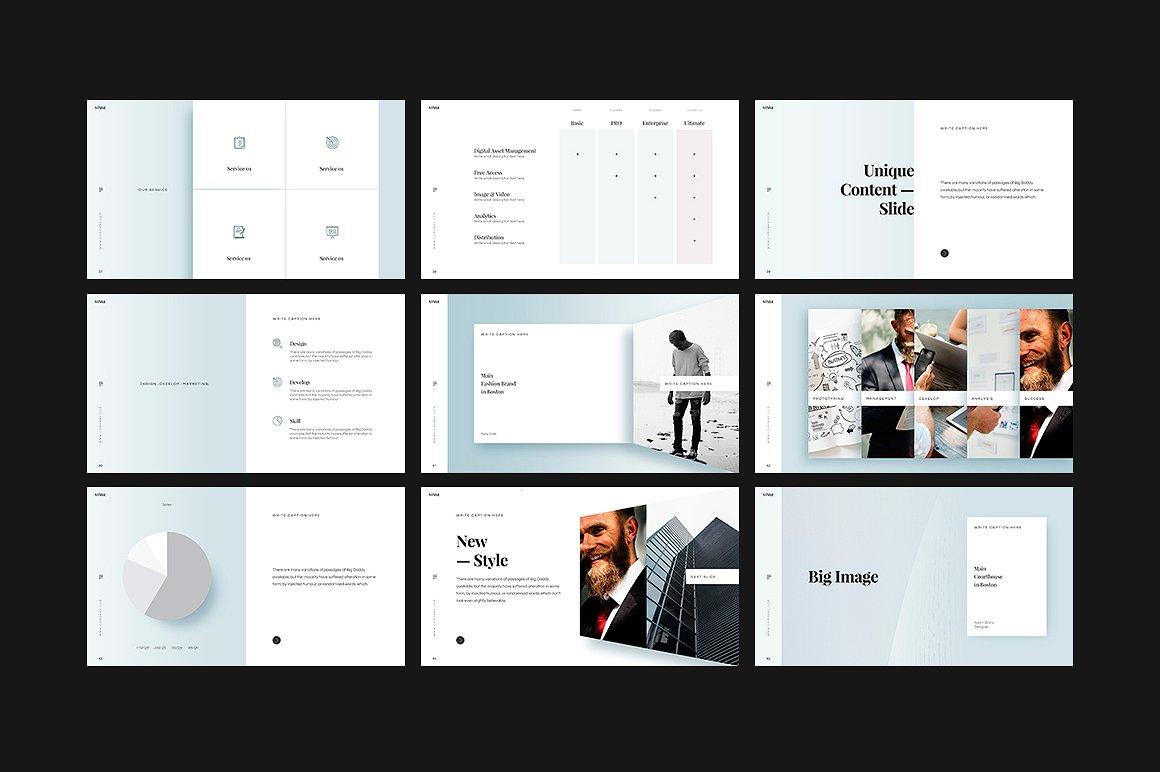 PPT制作模板时尚高端演示 STYLE Google Slides Template设计素材模板