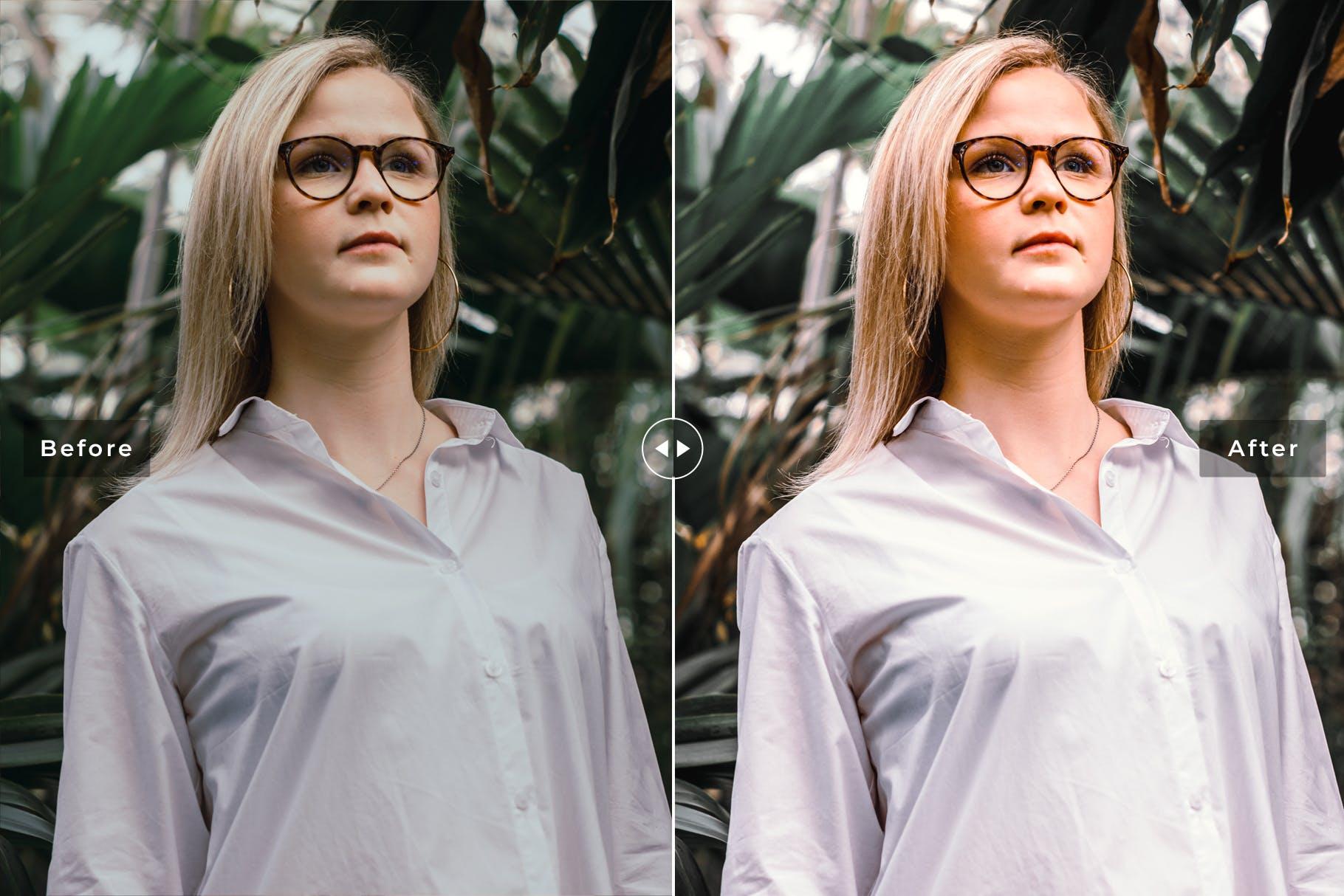 人物肖像摄影高端调色滤镜Lightroom预设 Fresh Mobile & Desktop Lightroom Presets设计素材模板
