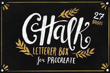粉笔笔刷素材纹理 Chalk Letterer Box for Procreate