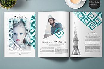 时尚个性排版的杂志画册模板 Lemo Magazine