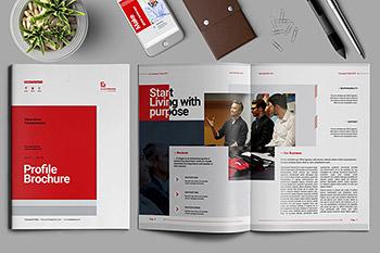 多用途的时尚商务画册企业简介楼书品牌手册杂志设计模板