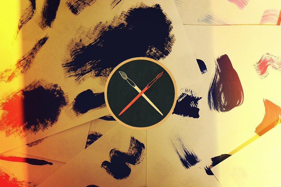 150件手工丙烯酸笔刷素材 150 Handcrafted Acrylic Brushes设计素材模板