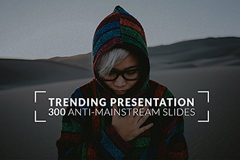 ppt素材通用趋势模板 Trending Powerpoint