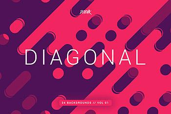 各色线条背景纹理 Diagonal | Rounded Lines Bgs | V01