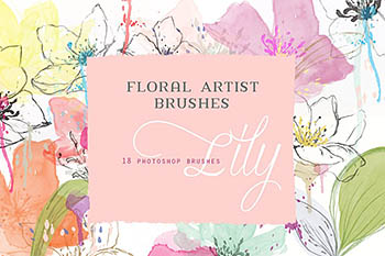 花卉PS笔刷 Floral Photoshop Brushes