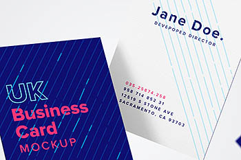 英国名片样机 UK Business Card Mockup 05
