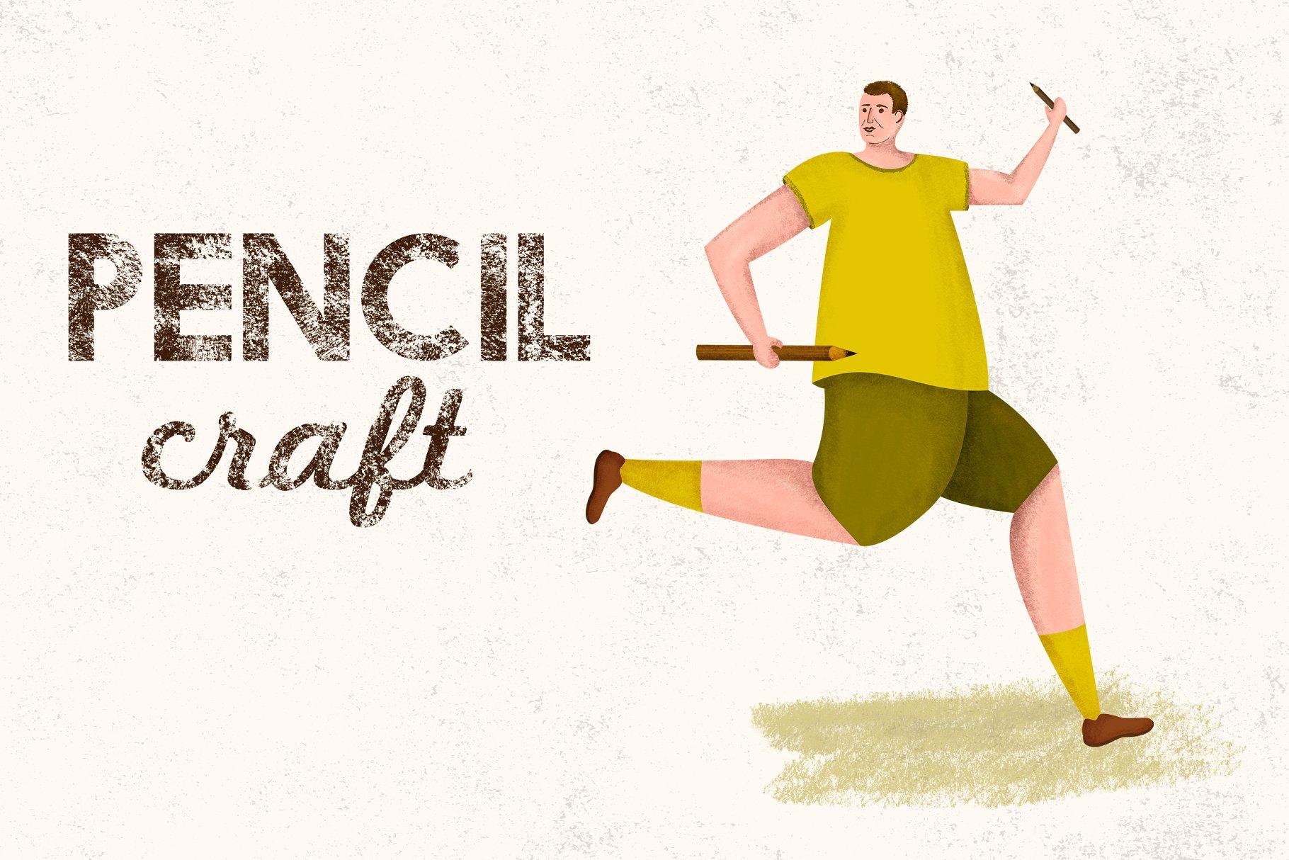 铅笔笔刷 Pencilcraft Brushes by Guerillacraft设计素材模板