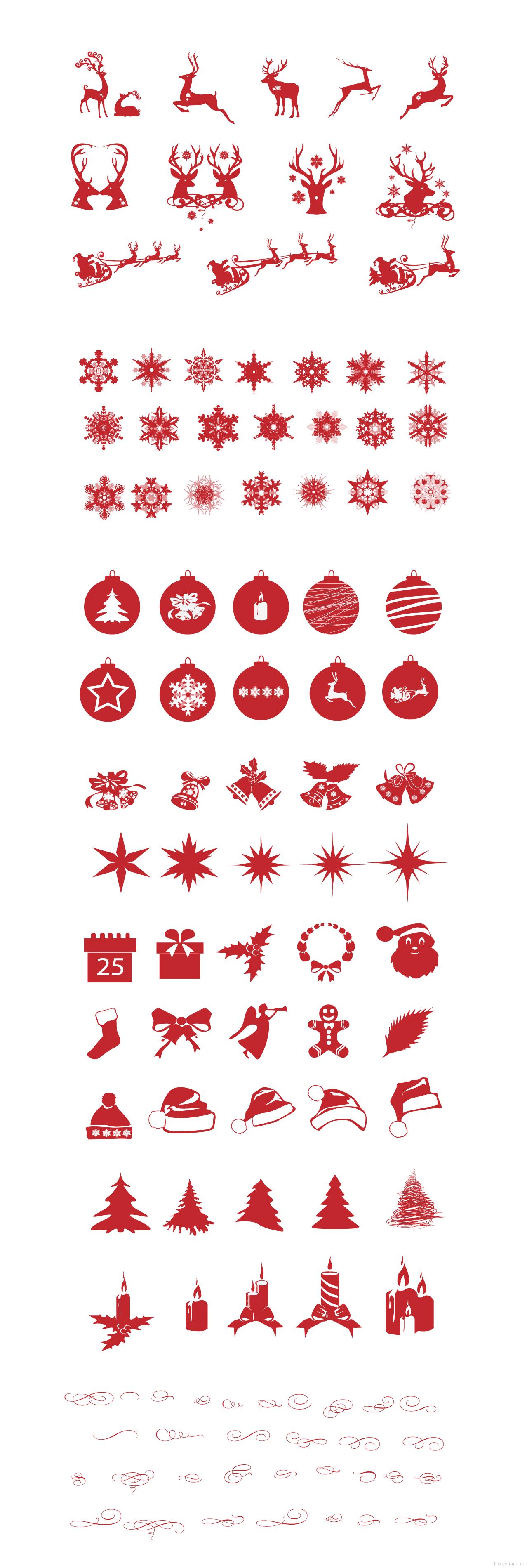精致圣诞矢量图形免费下载设计素材模板
