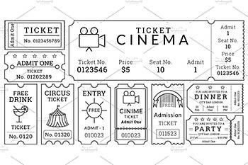 复古门票设计模板 Ticket Templates Pack