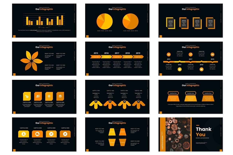 时尚高端野餐放松powerpoint幻灯片演示模板(pptx)设计素材模板